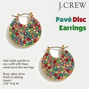 Pavé Crystal Disc Earrings